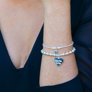 Annie Haak Ceremony Silver and Pearl Charm Bracelet