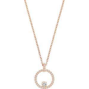 Swarovski Creativity Circle Pendant, White, Rose Gold Plating