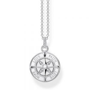 Thomas Sabo 'Compass Faith, Love, Hope' Necklace