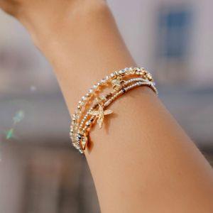 Annie Haak Cosmic Star Rose Gold Charm Bracelet