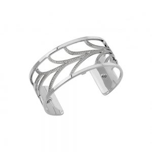 Les Georgettes Courbe 25mm Silver and Zirconia Bangle