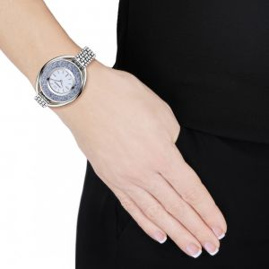 Swarovski_Crystalline_Oval_Silver_&_Blue_Metal_Watch