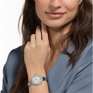 Swarovski Crystal Rose Watch, White, Rhodium Plating