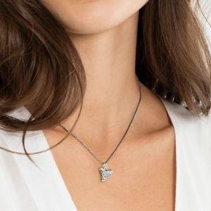 Thomas Sabo Silver and Diamond Ethnic Tooth Necklace