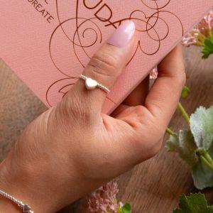 Annie Haak Mini Charm Silver Ring - My Guardian Angel