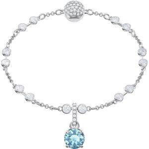 Swarovski Remix Collection Charm, December, Blue, Rhodium Plating