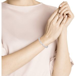 Swarovski Louison Bracelet, White, Rhodium Plating