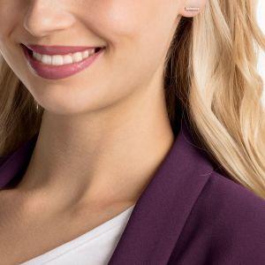 Swarovski Only Pierced Earrings, White, Rose Gold Plating