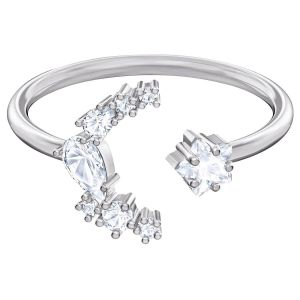 Swarovski Penélope Cruz Moonsun Open Ring, White, Rhodium Plating