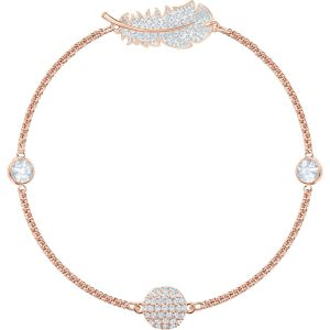 Swarovski Remix Collection Feather Strand, White, Rose Gold Plating