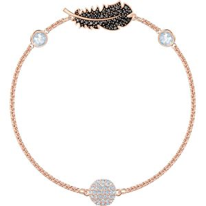 Swarovski Remix Collection Naughty Strand, Black, Rose Gold Plating