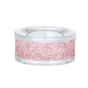 Swarovski Crystal Shimmer Tea Light Holder, Pink