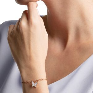 Swarovsk Remix Collection Lilia Strand, White, Rose-Gold Tone Plated