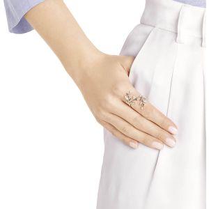 Swarovski Mayfly Coil Ring, White, Rose Gold Plating