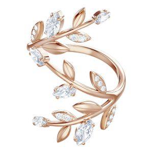 Swarovski Mayfly Ring, White, Rose Gold Plating