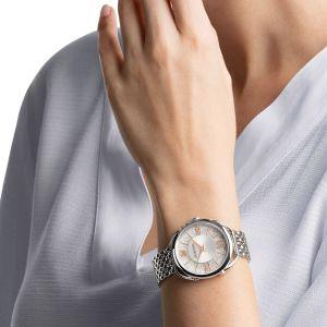Swarovski Crystalline Glam Watch, Metal Bracelet, White, Silver Tone