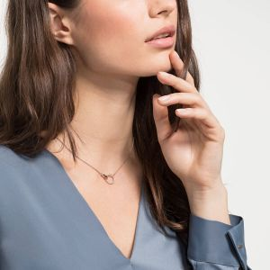 Swarovski Symbolic Necklace, White, Rose Gold Plating