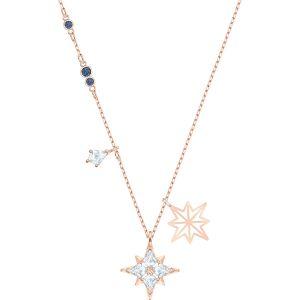 Swarovski Symbolic Star Pendant, White, Rose Gold Plating