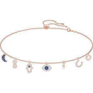 Swarovski Symbolic Necklace, Multi-Coloured, Rose Gold Plating