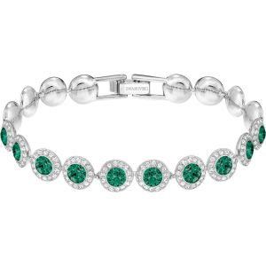Swarovski Angelic Bracelet, Green, Rhodium Plating