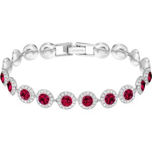 Swarovski Angelic Bracelet, Red, Rhodium Plating