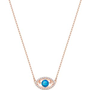 Swarovski Luckily Necklace, Multi-Coloured, Rose Gold Plating