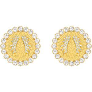 Swarovski Lucky Goddess Clip Earrings, White, Gold Plating