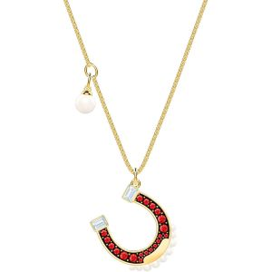 Swarovski Lucky Goddess Horse Necklace, Multi-coloured, Gold Plating
