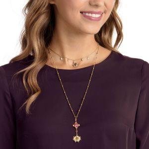 Swarovski Lucky Goddess Necklace, Multi-Coloured, Gold Plating