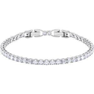 Swarovski Tennis Round Deluxe Bracelet, White, Rhodium Plating