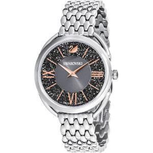 Swarovski Crystalline Glam Watch, Metal Bracelet, Grey, Silver Tone