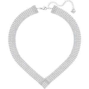 Swarovski Fit Necklace, White, Palladium Plating
