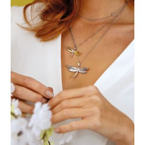 Kit Heath Blossom Flyte Dragonfly Ball Chain Necklace