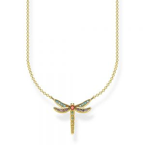 Thomas Sabo Necklace, Dragonfly Small, Yellow Gold Plating
