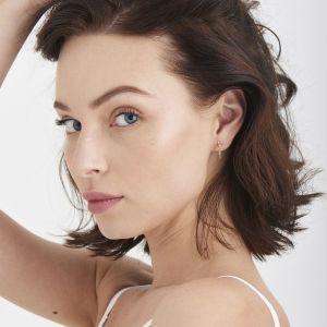 Ania Haie Modern Beaded Hoop Earrings, Gold
