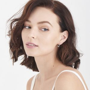 Ania Haie Modern Hoop Earrings, Silver