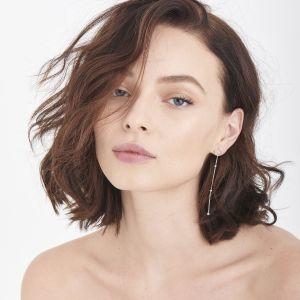 Ania Haie Modern Beaded Drop Earrings, Silver