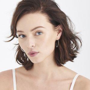Ania Haie Geometry Slim Hoop Earrings, Silver