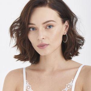 Ania Haie Spike Hoop Earrings, Silver