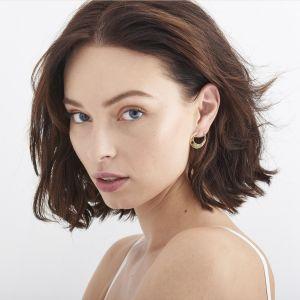 Ania Haie Oval Twist Earrings, Gold