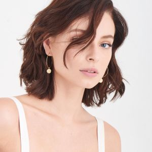 Ania Haie Geometry Slim Hoop Earrings, Gold