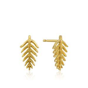 Ania Haie Palm Stud Earrings, Gold