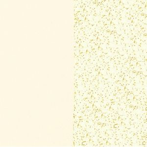Les Georgettes Reversible 16mm Earring Fluid Perspex, Cream / Gold Glitter