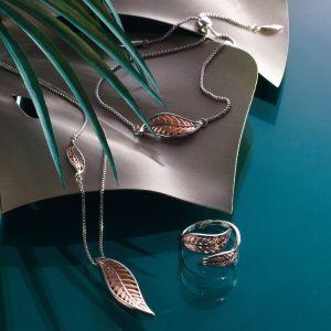 Kit Heath Blossom Eden Blush Leaf Lariat Necklace