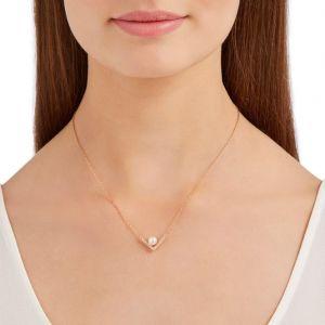 Swarovski Edify Necklace, White, Rose Gold Plating