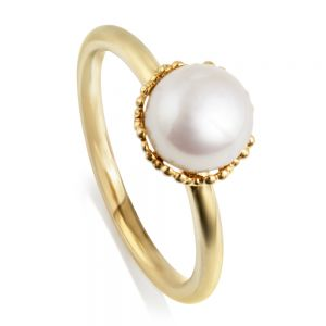 Jersey Pearl Emma-Kate Ring, Gold