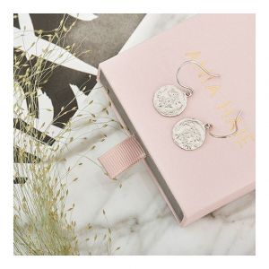 Ania Haie Emblem Hook Earrings, Silver