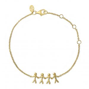 byBiehl Together Family 4 Gold Bracelet