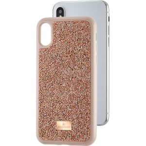 Swarovski Glam Rock Smartphone Case, iPhone® X/XS, Pink Gold