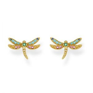 Thomas Sabo Dragonfly Ear Studs, Gold